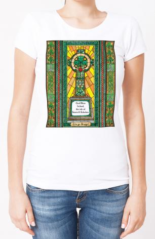 Ladies T-shirt - Celtic Cross by B. Nippert