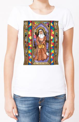 Ladies T-shirt - St. Catherine of Bologna by B. Nippert
