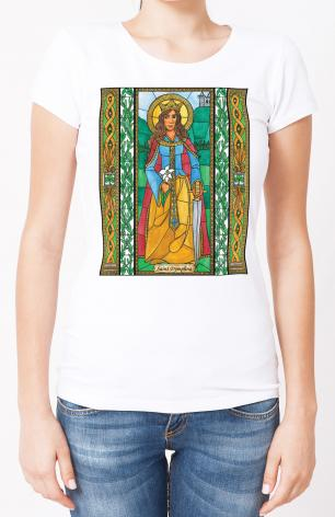 Ladies T-shirt - St. Dymphna by B. Nippert