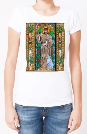 Ladies T-shirt - St. Francis of Assisi by B. Nippert