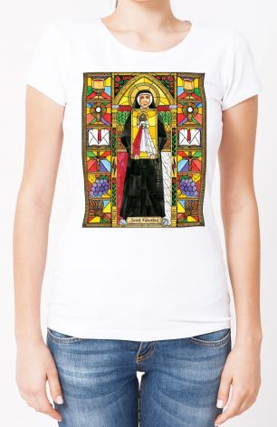 Ladies T-shirt - St. Faustina by B. Nippert