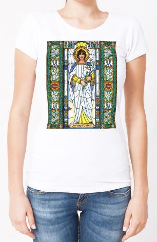 Ladies T-shirt - St. Gabriel Archangel by B. Nippert