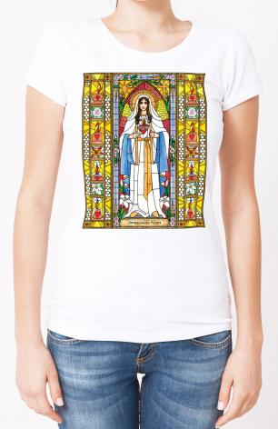Ladies T-shirt - Immaculate Heart of Mary by B. Nippert