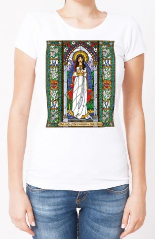 Ladies T-shirt - Our Lady of the Immaculate Conception by B. Nippert