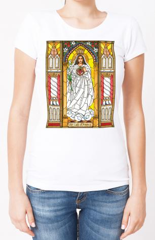Ladies T-shirt - Our Lady of America by B. Nippert
