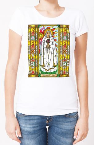 Ladies T-shirt - Our Lady of Fatima by B. Nippert
