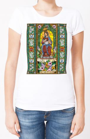 Ladies T-shirt - Our Lady of the Milk by B. Nippert