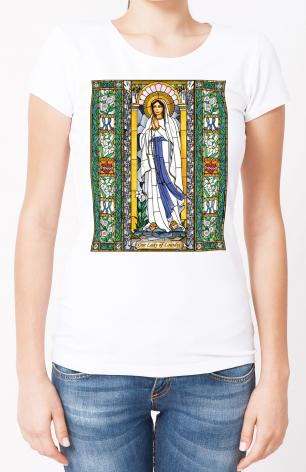 Ladies T-shirt - Our Lady of Lourdes by B. Nippert