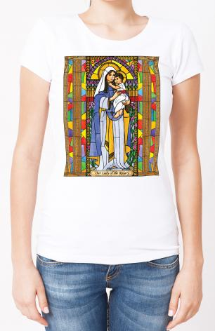 Ladies T-shirt - Our Lady of the Rosary by B. Nippert