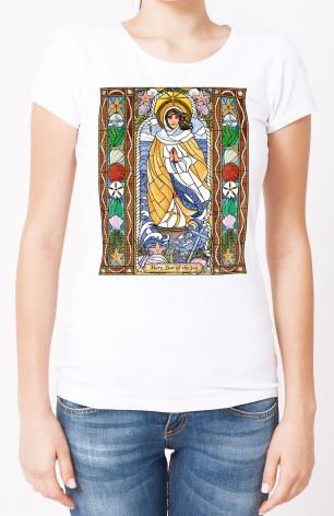 Ladies T-shirt - Our Lady Star of the Sea by B. Nippert