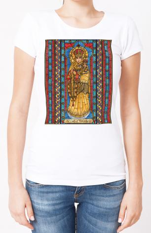 Ladies T-shirt - Our Lady of Vailankanni by B. Nippert