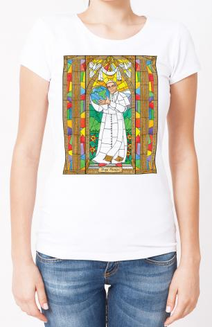 Ladies T-shirt - Pope Francis by B. Nippert