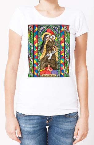 Ladies T-shirt - St. Teresa of Avila by B. Nippert