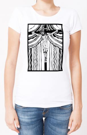 Ladies T-shirt - Cristo de Chimayó by D. Paulos