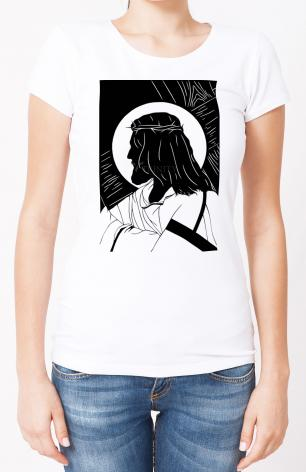 Ladies T-shirt - Carrying of the Cross - foreground view by D. Paulos
