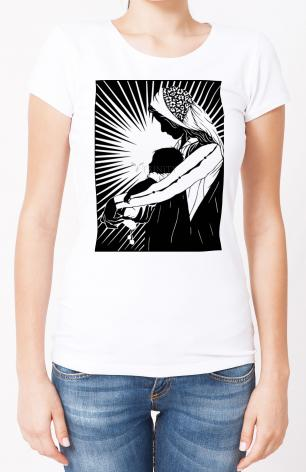 Ladies T-shirt - Our Lady of the Light - ver.1 by D. Paulos