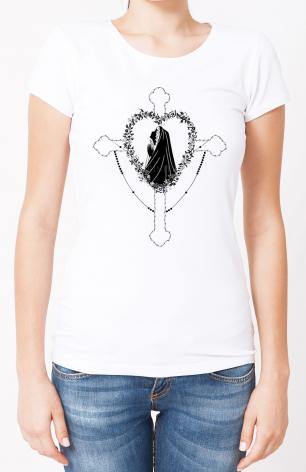Ladies T-shirt - Our Lady of the Rosary by D. Paulos