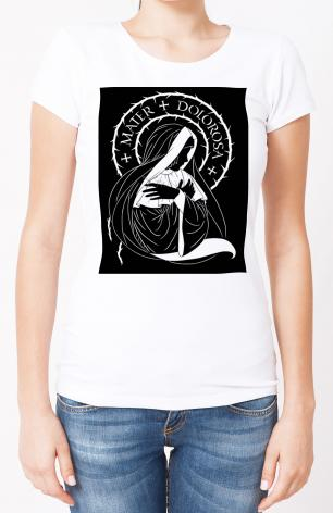 Ladies T-shirt - Mater Dolorosa - Mother of Sorrows by D. Paulos