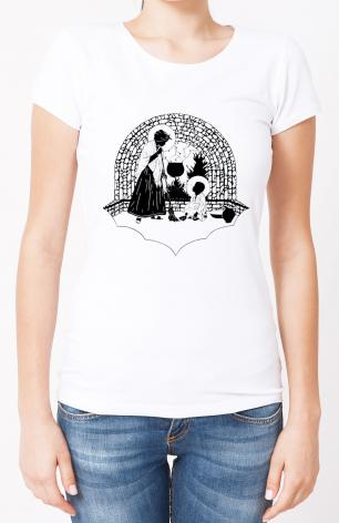 Ladies T-shirt - Our Lady, Servant by D. Paulos