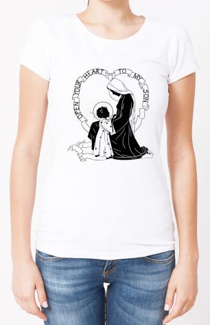 Ladies T-shirt - Open Your Heart To My Son - ver.1 by D. Paulos