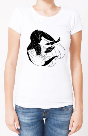 Ladies T-shirt - Our Lady of the Pilgrim by D. Paulos