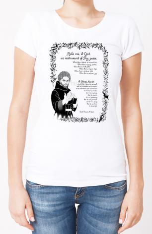 Ladies T-shirt - Prayer of St. Francis by D. Paulos
