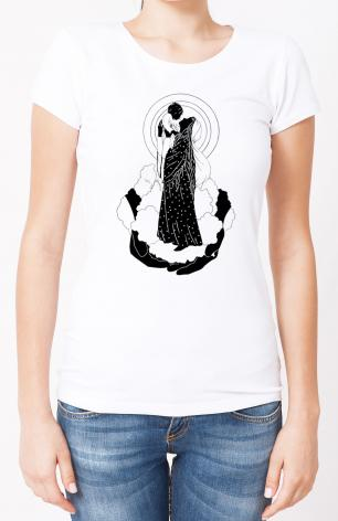 Ladies T-shirt - He's Put The Whole World In Her Hands by D. Paulos