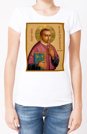 Ladies T-shirt - St. Alphonsus Liguori by J. Cole