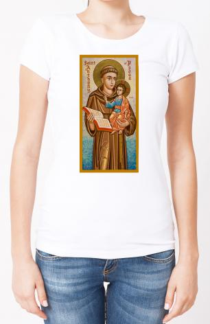 Ladies T-shirt - St. Anthony of Padua by J. Cole