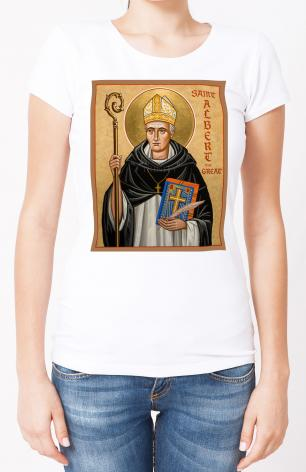 Ladies T-shirt - St. Albert the Great by J. Cole