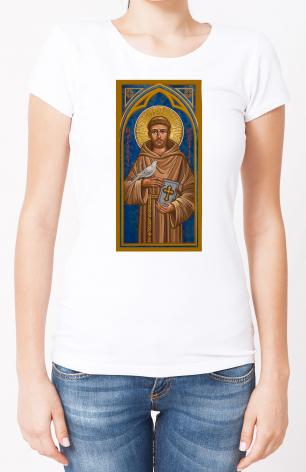 Ladies T-shirt - St. Francis of Assisi by J. Cole
