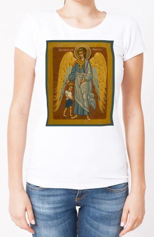 Ladies T-shirt - Guardian Angel with Boy by J. Cole