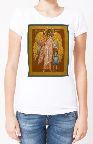 Ladies T-shirt - Guardian Angel with Girl by J. Cole