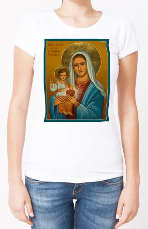 Ladies T-shirt - Our Lady of the Sacred Heart by J. Cole
