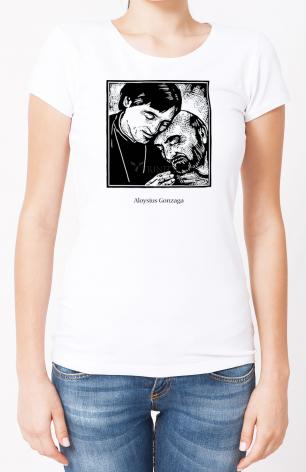 Ladies T-shirt - St. Aloysius Gonzaga by J. Lonneman