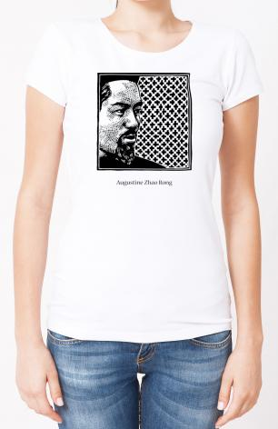 Ladies T-shirt - St. Augustine Zhao Rong and 119 Companions by J. Lonneman