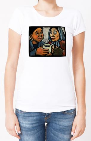 Ladies T-shirt - Blessed Are the Poor by J. Lonneman