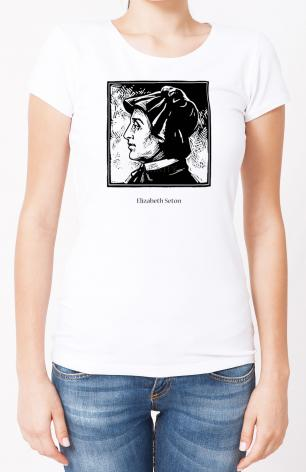Ladies T-shirt - St. Elizabeth Seton by J. Lonneman