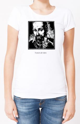 Ladies T-shirt - St. Francis de Sales by J. Lonneman