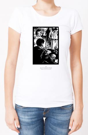 Ladies T-shirt - Women's Stations of the Cross 02 - Jesus is Condemned to Death by J. Lonneman