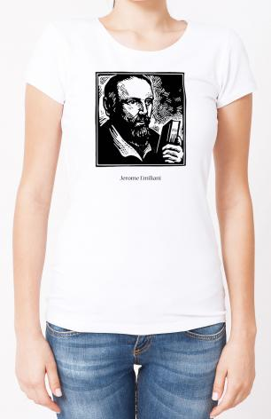 Ladies T-shirt - St. Jerome Emiliani by J. Lonneman