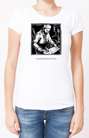 Ladies T-shirt - St. Joseph, husband of Mary by J. Lonneman
