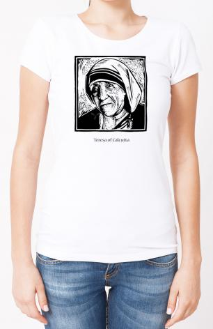 Ladies T-shirt - St. Teresa of Calcutta by J. Lonneman