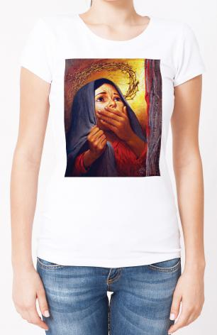 Ladies T-shirt - Mary at the Cross by L. Glanzman