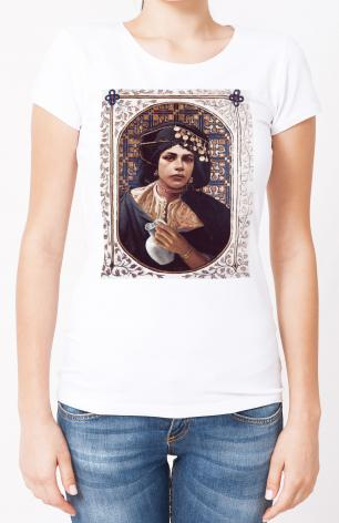 Ladies T-shirt - Penitent Woman by L. Glanzman
