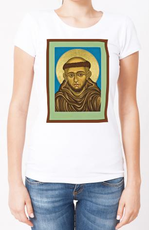 Ladies T-shirt - St. Francis of Assisi by L. Williams