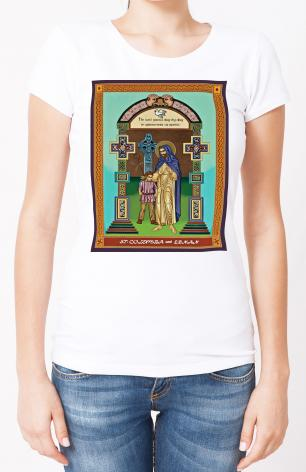 Ladies T-shirt - St. Columba and Ernan by L. Williams
