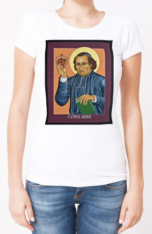Ladies T-shirt - Fr. Andre' Coindre by L. Williams