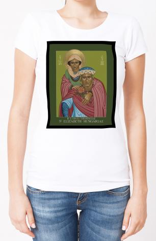 Ladies T-shirt - St. Elizabeth of Hungary and Bl. Ludwig of Thuringia by L. Williams