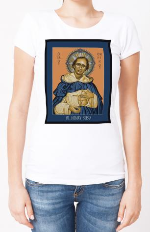 Ladies T-shirt - Bl. Henry Suso by L. Williams